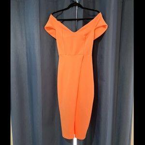 Coral Midi-Dress